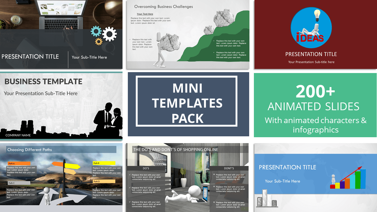 Mini Templates Pack Animated Premium Powerpoint Templates